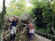 頂上に到着! 岐阜城が見えます♪