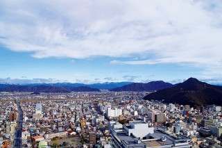 岐阜シティ・タワー43 展望室からの眺め