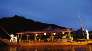 岐阜城と観覧船
