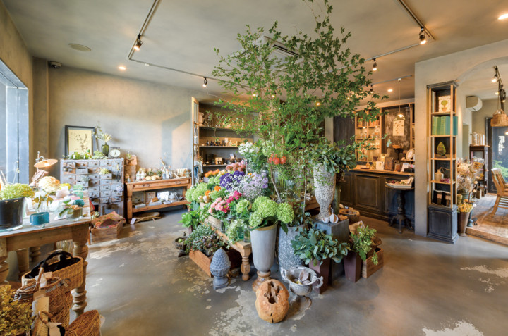 florist GREEN VEIL店内